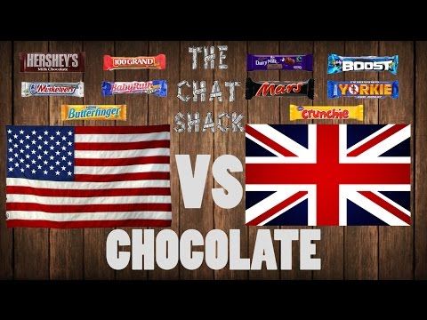 American Chocolate vs English Chocolate