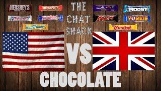 American Chocolate vs English Chocolate