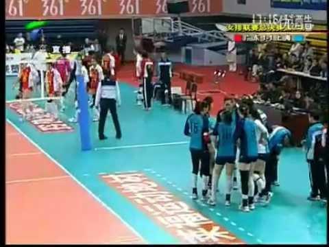 2012-3-3 Chinese League final Guangdong Evergrande恆大女排 3-2 Shanghai Dunlop上海女排 set3
