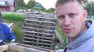как из поддонов сделать забор