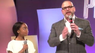 Skai Jackson and Michael David Palance at Premiere Program