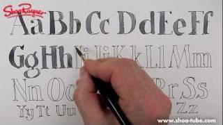 How to draw an alphabet - spoken tutorial