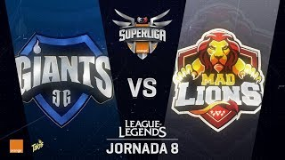 SUPERLIGA ORANGE - GIANTS VS MAD LIONS - Mapa 2 - #SUPERLIGAORANGELOL8