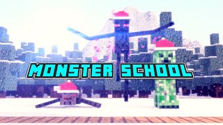 Monster School: Throwing Snowballs - Minecraft Animation