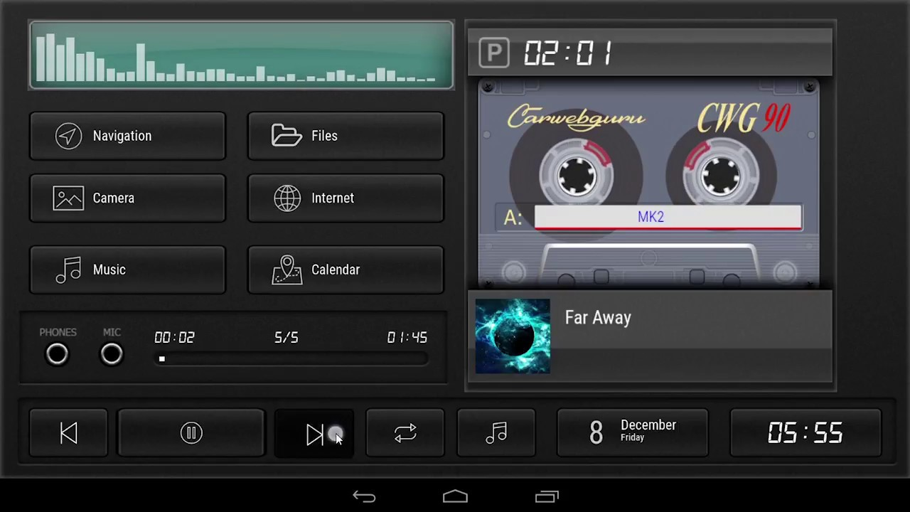 Cassette - theme for CarWebGuru launcher