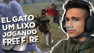 EL GATO TA UM LIXO JOGANDO FREE FIRE!