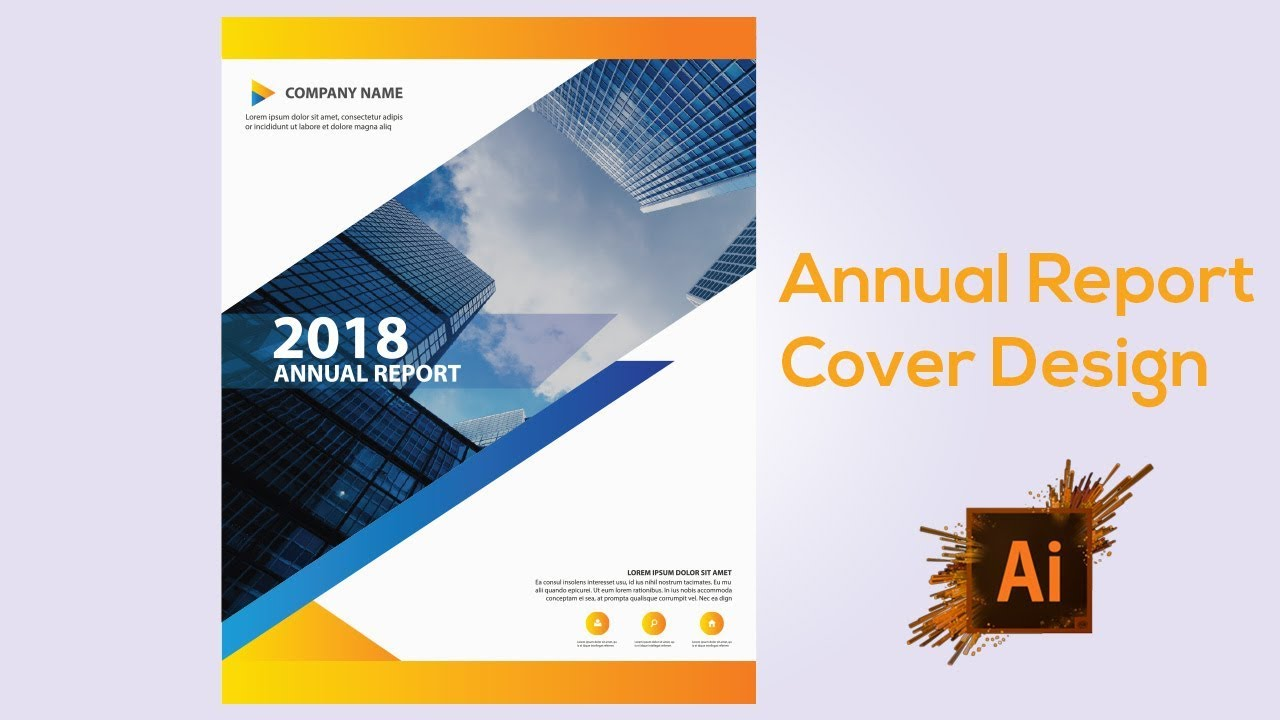 annual report cover design adobe illustrator cs6 tutorial