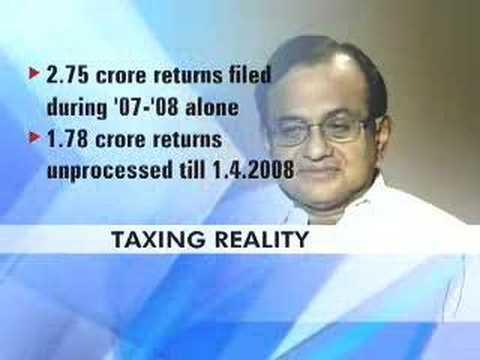 I-T dept unable to process tax returns