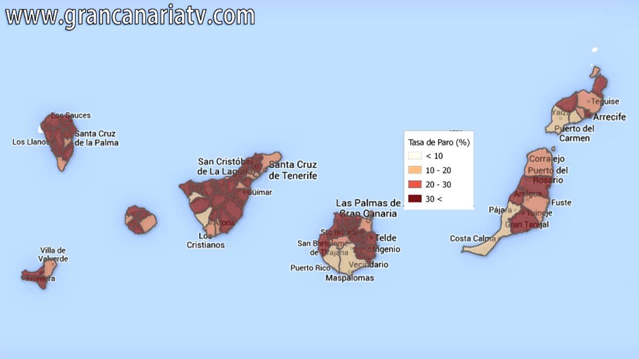 Mapa de la tasa de paro en canarias por municipios youtube - Gran canaria tv com ...