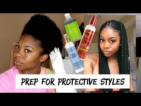 My Natural Hair Blow Dry Routine  Prepping For Protective Styles