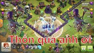 NMT | Clash of clans | Combo troll Chay Witch + bình nhân bản siêu ...