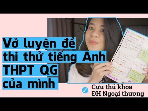 Vở luyện đề thi thử tiếng Anh THPT Quốc Gia của mình   Tâm sự của cựu thủ khoa Ngoại Thương