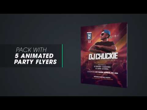 Pack with 5 Animated Flyers - After Effects Template