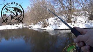 Рыбалка на спиннинг на малой реке Весна 2020 Льда нет