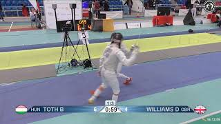 2018 1234 T32 09 M F Individual Halle GER European Cadet Circuit BLUE TOTH HUN vs WILLIAMS GBR