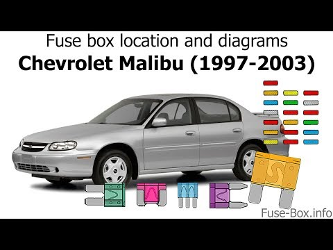 Fuse box location and diagrams: Chevrolet Malibu (1997-2003) - YouTube