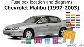 fuse box location and diagrams chevrolet lumina 1995 2001 youtube fuse box location and diagrams