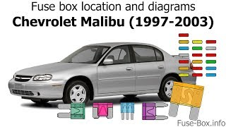 fuse box location and diagrams: chevrolet malibu (1997-2003) - youtube  youtube