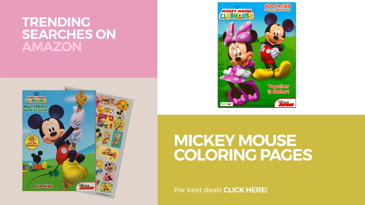 mickey mouse coloring pages trending searches on amazon youtube