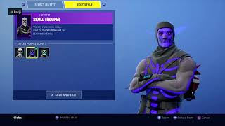 Fortnite How To Get The Purple or Blue Glow Skull Trooper!!