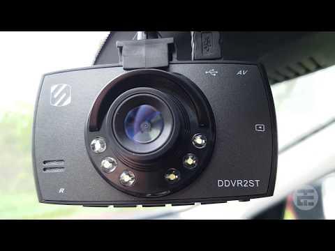 $14 Dash Cam Review - Scosche DDVR2ST Dashboard DVR Dash Cam