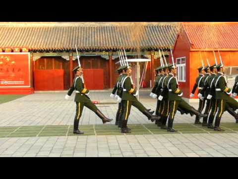 Funny Armi - changing of guards in China