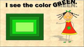 A Color Green Song  / Color Songs for Children