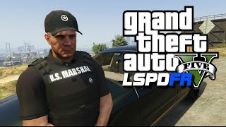 GTA 5 LSPDFR #28 - Escaped Convicts! U.S. Marshal Service