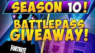 FORTNITE SEASON X BATTLE PASS GIVEAWAY (SEASON 10) *Free Battle Pass*