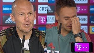 Emotionale Pressekonferenz Robben und Rafinha vor Bayern Abschied