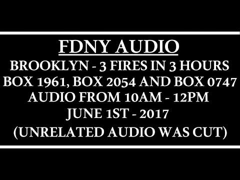 FDNY - Audio - Brooklyn 3 Jobs in 3 Hours - 6/1/17