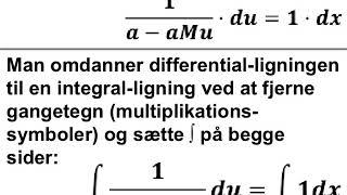 Den logistiske differentialligning med tæller M