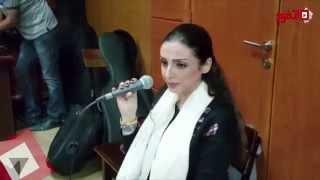 اتفرج على البروفة الأخيرة لـ أنغام قبل حفلها بمسرح أوبرا مصر