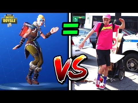 ALL *NEW* FORTNITE SEASON 5 DANCES/EMOTES IN REAL LIFE! (MILLY ROCK, CALCULATED, GENTLEMEN'S DAB)