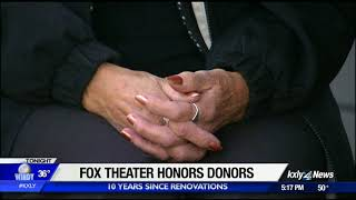 Spokane Symphony honors the donors who kept the Fox Theater alive