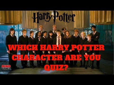 HARRY POTTER QUIZ - WHICH HARRY POTTER CHARACTER ARE YOU? HARRY POTTER CHARACTER QUIZ CHALLENGE