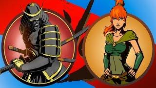 СЁГУН мультик про бой с тенью РЫСЬ ОТШЕЛЬНИК ВДОВА ОСА МЯСНИК игра Shadow Fight 2 от КИДа