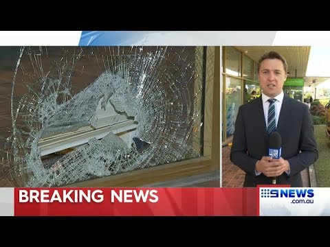 Peter Dutton's office windows smashed by protestors