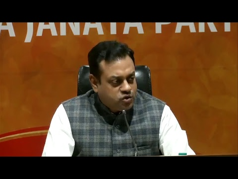 Press Conference by Dr. Sambit Patra at BJP Central Office,
