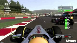 F1 2011 McLaren Hamilton Spa Gameplay (HD 1080p)