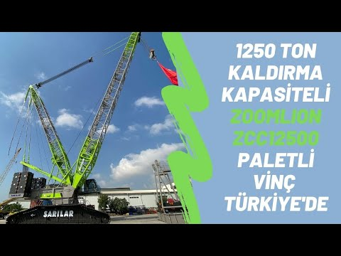 1250 TON KALDIRMA KAPASİTELİ  ZOOMLION ZCC12500 PALETLİ VİNÇ TÜRKİYE'DE