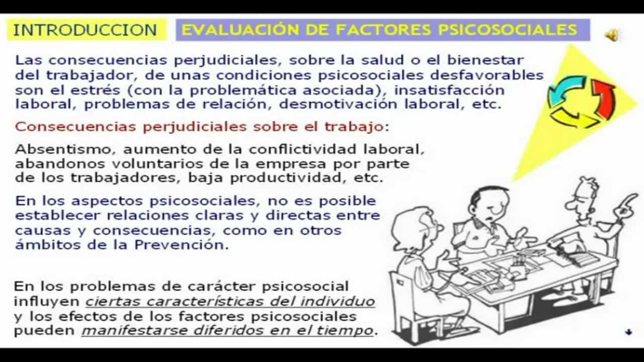 INSHT Método de evaluación F-PSICO. Factores Psicosociales Versión 3.0