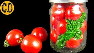 Натуральные ПОМИДОРЫ в собственном соку за 5 минут. Самый простой способ консервирования помидоров.