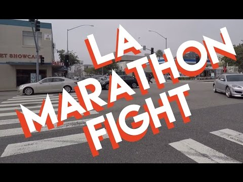 LA MARATHON FIGHT / SANTA MONICA