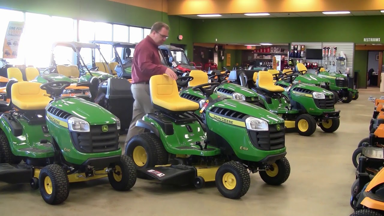 small resolution of john deere e 100 series lawn tractors buyer s guide