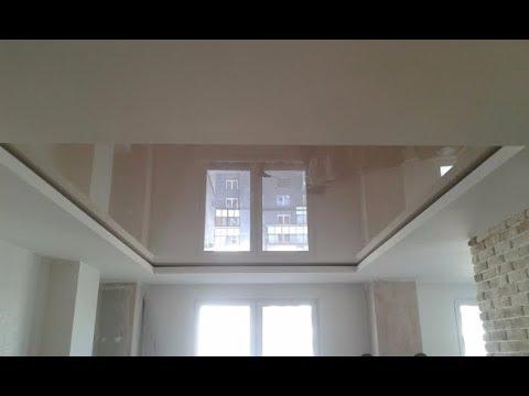 Тканевые натяжные потолки и ПВХ потолки в одной квартире.