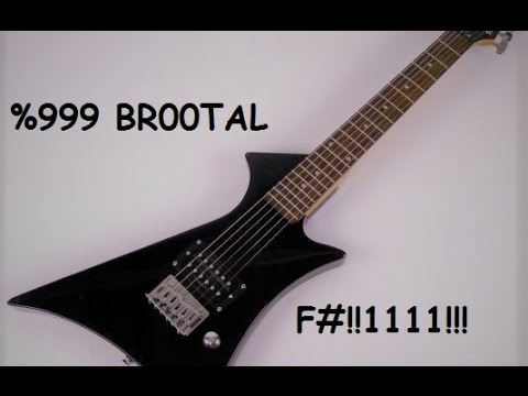 short scale first act guitar tuned to f# played through line 6 spider (ultimate djent setup)