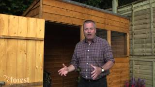 Features of Forest's Overlap Dip Treated Pent Shed Range