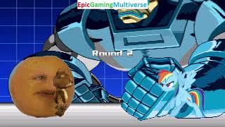 Tedi The Robotic Teddy Bear And Annoying Orange VS Apocalypse And Rainbow Dash In A MUGEN Match
