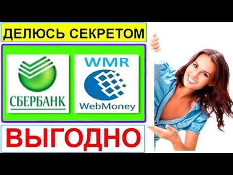 Как онлайн перевести деньги из сбербанка на вебмани Wmr. Пошаговое видео.